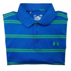 Under Armour Stripe Performance Golf Polo Large